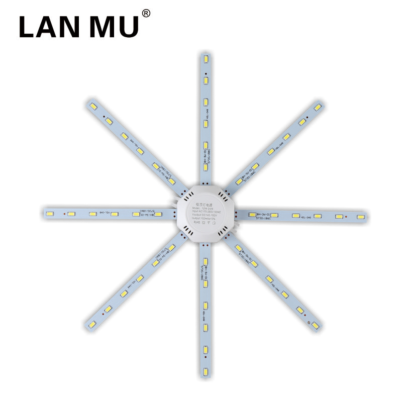 LAN MU <font><b>LED</b></font> Light Board Ceiling <font><b>Lamp</b></font> 12W 16W <font><b>20W</b></font> 24W <font><b>LED</b></font> Bulb Light AC 220V PCB Board Octopus Tube 5730SMD Energy Saving <font><b>Lamp</b></font> image