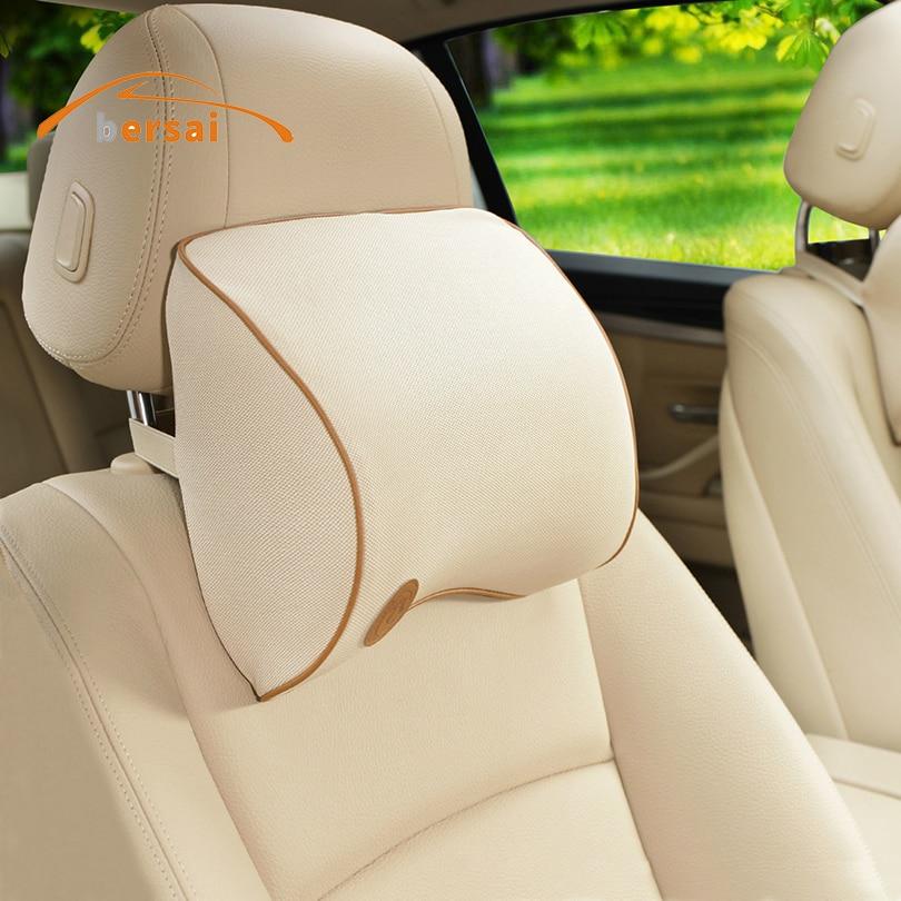 Macio Assento de carro Pescoço Travesseiro encosto de cabeça Do Carro styling Para Mercedes Benz BRABUS AMG Assento Citroen BMW LADA TOYOTA Abarth JMD acessórios