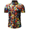 Mens Hawaiian Shirt Male Casual Camisa Masculina Printed Beach Shirts Short Sleeve Brand Clothing Free Shipping Asian Size 3XL