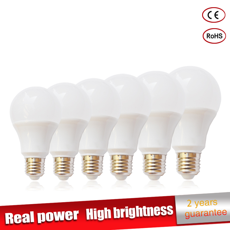 5pcs lot Real power Led Lamp E27 220V led Light 3W 5W 7W 9W 10W 12W