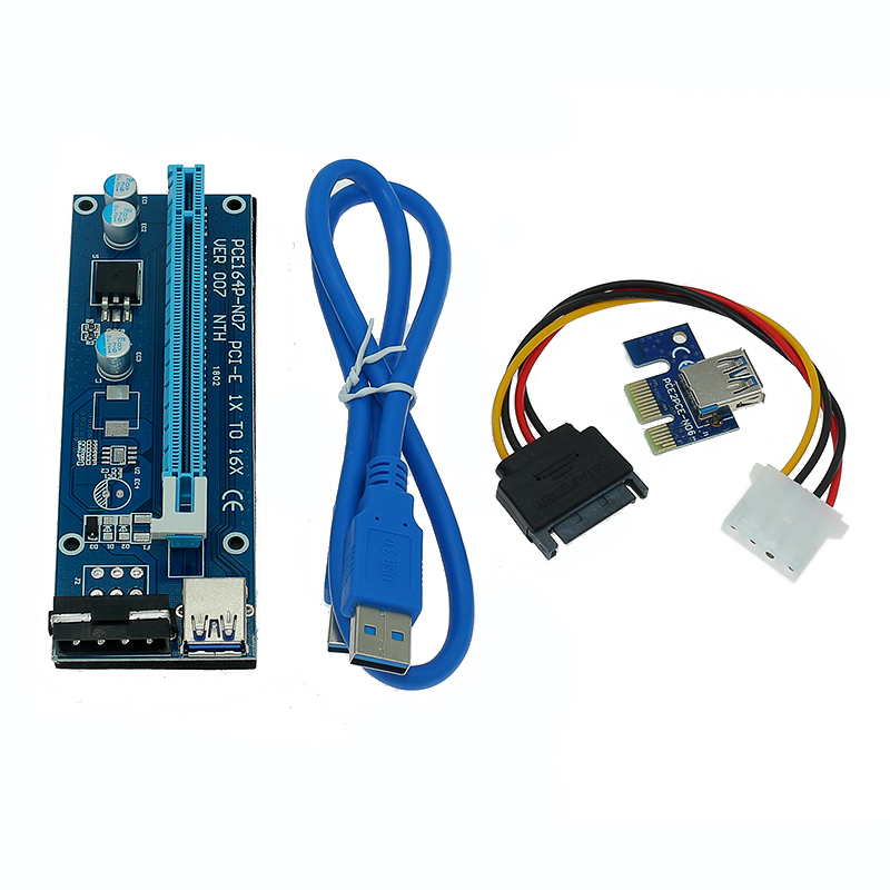 PCI/_E PCI-Expres x1 to x16 slot adapter riser card with 60cm USB3.0 Cable length