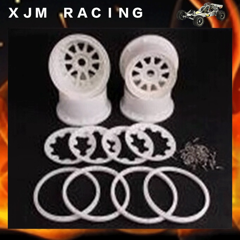 HD NYLON PARTS ROVAN WHEEL HUB  KIT WITH DEADLOCK RING AND SCREWS FOR HPI KingMotor BAJA 5SC front sand buster tyres tire set with nylon wheel 2pcs for baja 5b hpi km rovan