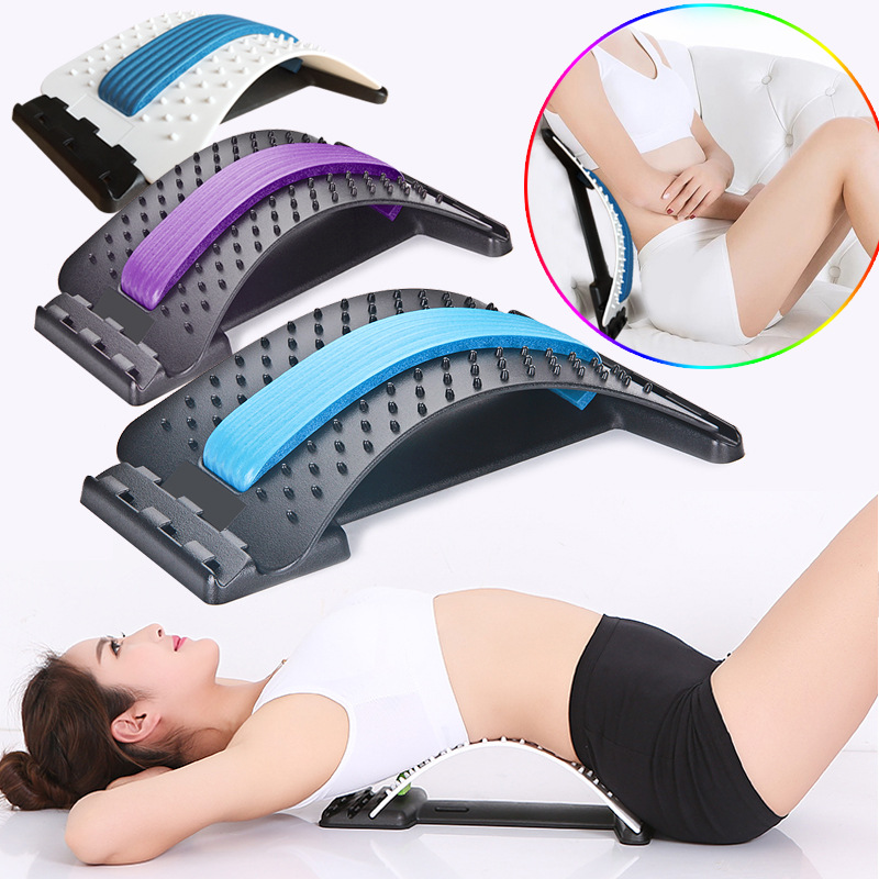 1pc back stretching equipment massager magic stretcher fitness lumbar support relaxation spine pain relief orthopedic care