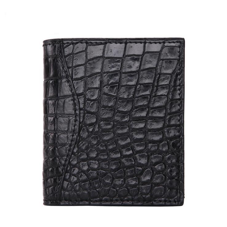 Free freight crocodile skin handmade wallet Multicard Genuine Leather Men wallet Corss Pattern Coin purse