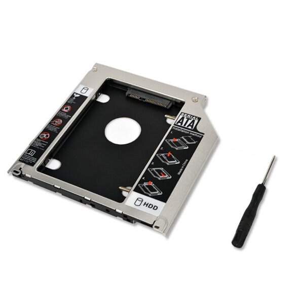 NEW 9.5MM 2nd HDD SSD Caddy for Dell Precision M4700 M6700 M4800 M4500 Notebook