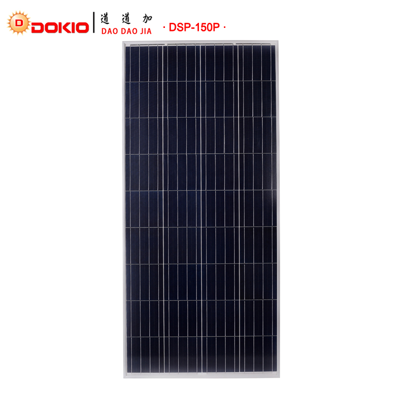 Dokio Brand 150W Polycrystalline Silicon Painel Solar 18V 1470*660*35mm Solar Battery China Top quality Paneles Solares China