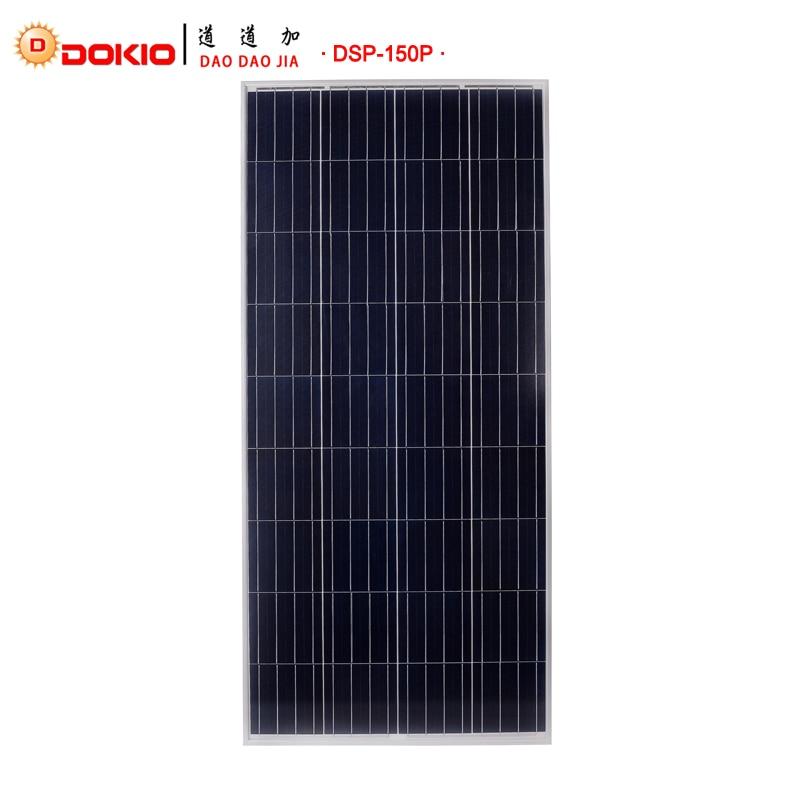 Dokio Marque 150 w Polycristallin De Silicium Painel Solaire 18 v 1470*660*35mm Solaire Batterie Chine Top qualité Paneles Solares Chine