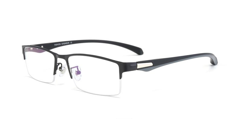 New fashion men's myopia glasses short-sighted prescription glasses frame TR90 near-sighted mopia eyeglasses single vision(China)