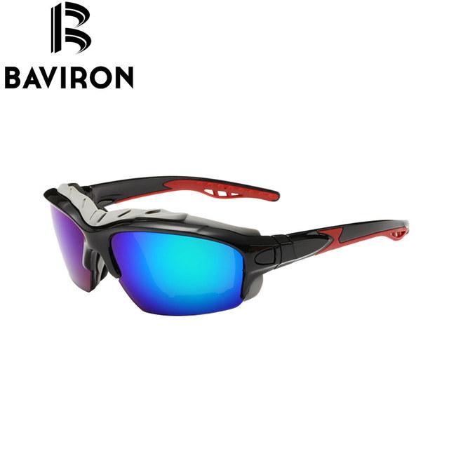 BAVIRON Resistir Ao Vento Óculos De Sol Dos Homens Quadro Selo Chuva Motociclista Óculos Polarizados Esportes Óculos de Proteção UV400 Proteja Eyewear Oculos de sol Gafas 8505