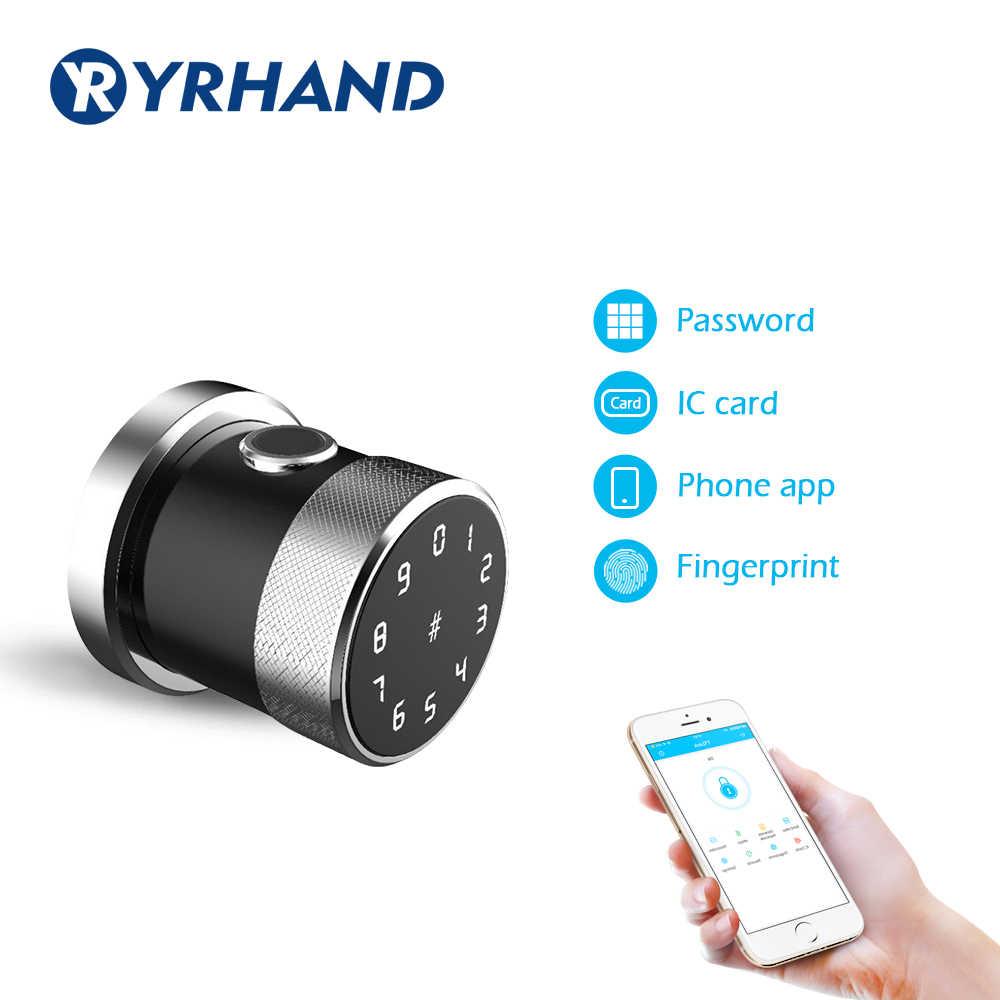 Paduan Seng Aplikasi Sidik Jari Biometrik Kunci Pintu Akses Internet Nirkabel Digital RFID Kunci Pintu Tahan Air Keypad Smart Door Lock