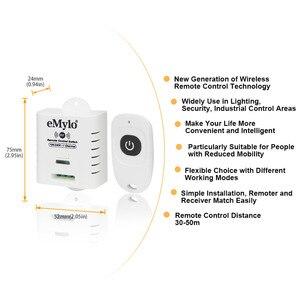 Image 2 - EMylo AC100 240V 2000 ワット 433 mhz の 1 チャンネル RF リレーワイヤレスリモート制御光スイッチレシーバー