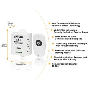 Image 2 - Беспроводной Радиочастотный светильник eMylo, 1 канал, 2000 Вт, 433 МГц, светильник с дистанционным управлением