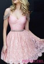2016 Sexy Rosa Marineblau Kurze Spitze Cocktailkleider Kleid robe de cocktail Benutzerdefinierte Größe Backless Kleid