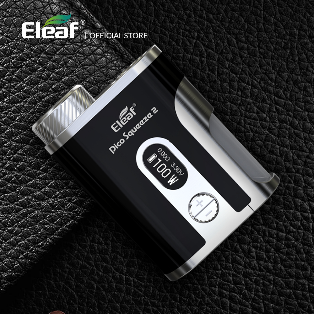 D'origine 100 W Eleaf Mod boîte Pico Squeeze 2 mod avec 8 ml Bouteille boîte mod cigarette électronique mod boîte