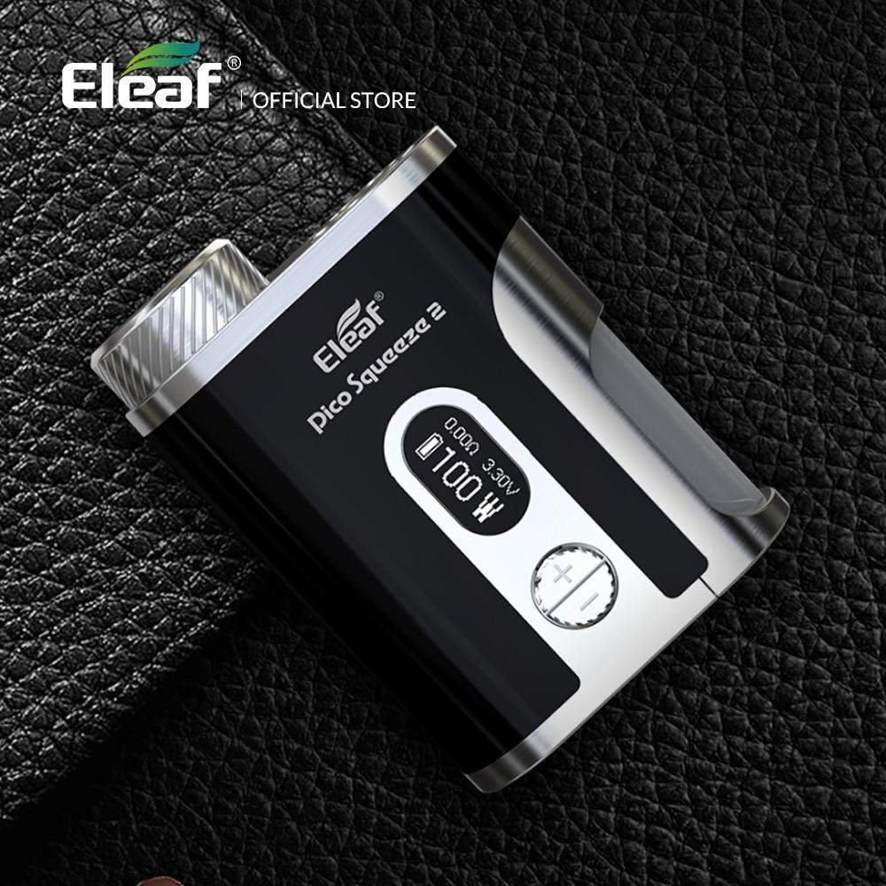 Original 100 W Eleaf Mod boîte Pico presser 2 mod avec 8 ml bouteille boîte mod cigarette électronique mod boîte