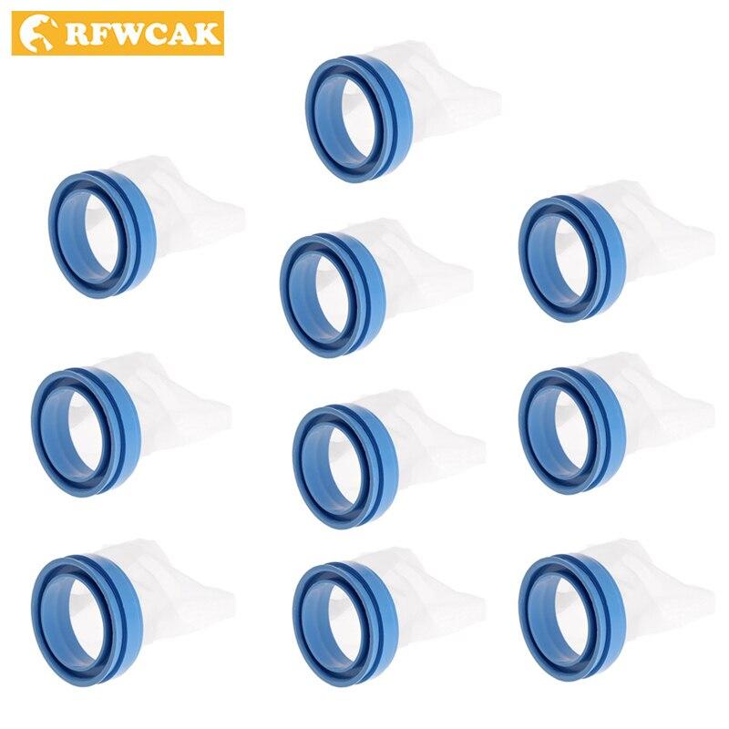 RFWCAK 10 Pcs Erfassen Filter Snap Pflege Handschuh Auf Deckel Fängt Kopf Läuse Und Eier Für Kamm Set Hund zubehör pet Liefert