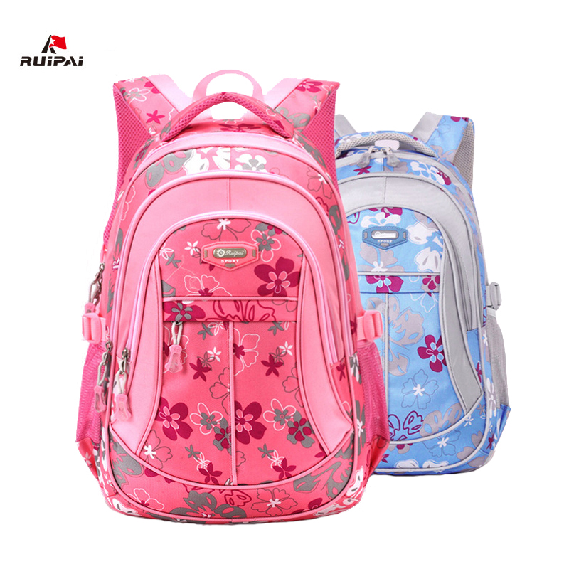 RUIPAI New Fashion Floral Printing Children School Bag Backpack Mochila Suitable Primary Student Teenage Girl And Boys Bookbag