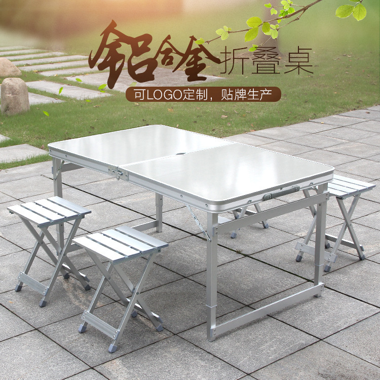 Outdoors Fold Tables Chairs Stall Goods Spread On Ground For Barbecue Household Leisure Time Camp Aluminium Alloy Fold RU notes on camp