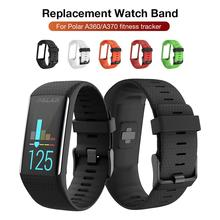 Silicone Replacement Strap Black Buckle Wristband Watch Band For Polar A360 A370 GPS Smart Bracelet Accessories