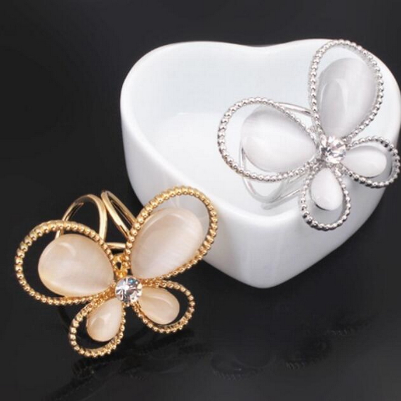 1PC Butterfly Fashion Womens Rhinestone Tricyclic Scarves Gift Hot Charming Golden Nice Scraf Buckle