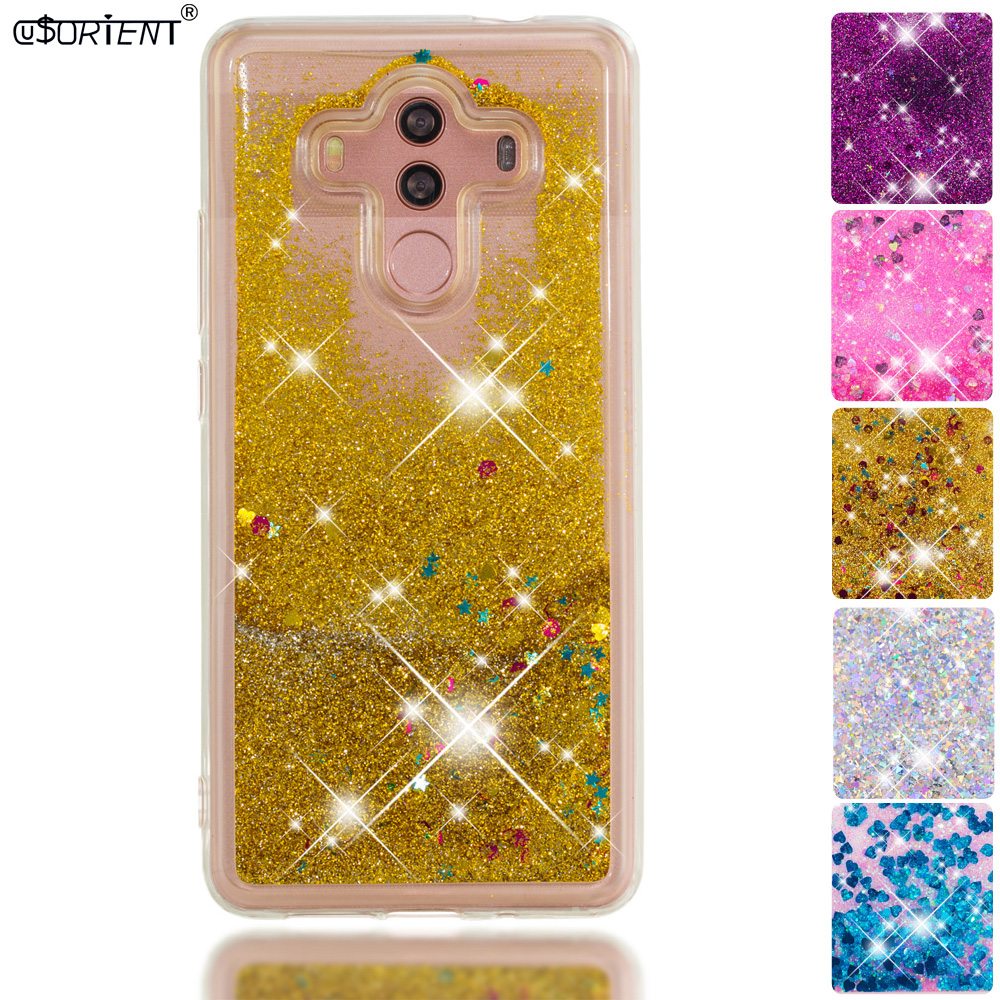 Frugal Glitter Case Huawei Mate 10 Pro Bling Dynamic Liquid Quicksand Phone Case Mate10 Pro Bla-l09 Bla-l29 Soft Silicone Fitted Cover Cellphones & Telecommunications