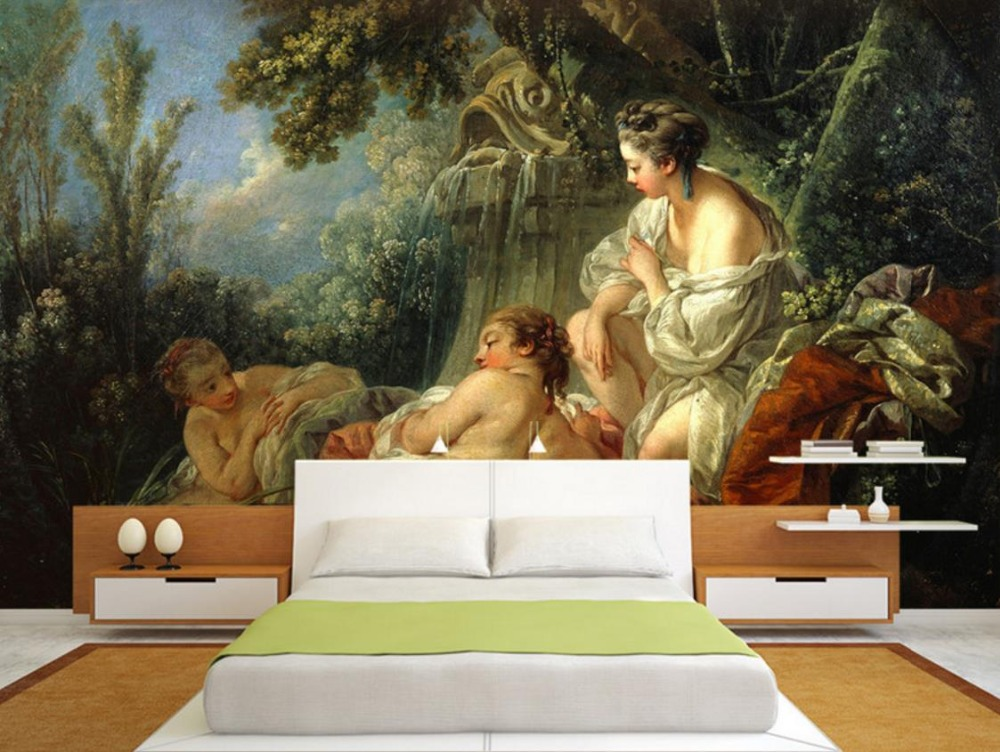Photo Wall Mural High Definition Classical beauty Painting Living Room 3d Wallpaper Decorative background