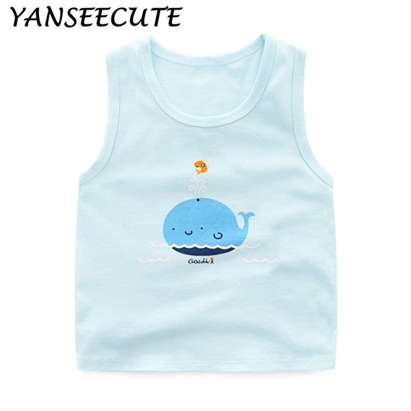 girls underwear boys topic for girls camisoles children clothes  girls clothes boys camisole cotton WYL5031-1P 1PCS/LOT