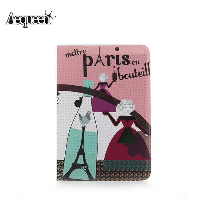 AEQUEEN  Vintage Passport Cover 13 Styles Card ID Holders  PVC Card  Holders Travel Passport Package Wholesale Eiffel Tower