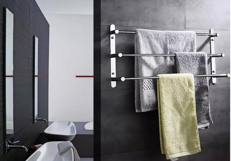 60cm Length Stainless Steel Ladder Towel Rack Bathroom Bars Three Layers Multifunctional Holders In Racks From Home Improvement On