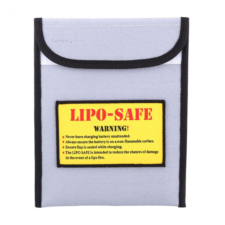 LiPo Battery Safe Storage Protect Bag Both Side Fire Resistant Pouch Safe Guard Charging Sack Battery Safe Explosion-Proof Bag