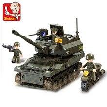SLUBAN 9800 258 Pcs K9 Militar Do Exército Tanque Modelo de Construção Bloco de construção Figura Toys Presente Para As Crianças