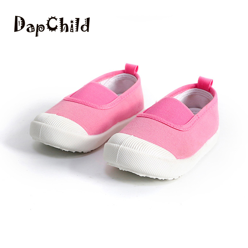DapChild girls fashion sneakers baby boy brand shoes Elastic band childrens tennis shoes Kids Summer shoes Solid Color Age 1-5Y