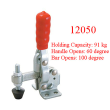 5PCS Fixed Spindle Flanged Base Vertical Type Toggle Clamp 12050 Holding Capacity 91KG 201LBS