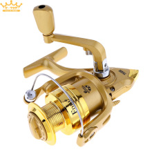 3000 / 4000 Series 6BB Golden Color Spinning Fishing Reel 5.2:1 Plating Left/Right Interchangeable Collapsible Handle