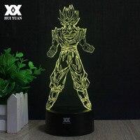 Dragon Ball Son Goku 3D Lampe LED 7 Couleur À Distance Control Night Light USB Nouveauté Lampe De Table De Décoration de Bande Dessinée Créative cadeau