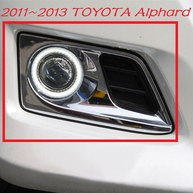 ФОТО Car-styling,Alphard fog lamp,2011~2013,chrome,Free ship!2pcs,Alphard head light,car-covers,Halogen/HID+Ballast;Alphard