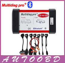 DHL Free! (2014 R2/2015 R1)Red Multidiag Pro with Bluetooth VD TCS CDP+ 21 languages+FULL set 8pcs CAR CABLES  for Cars & Trucks