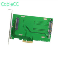 PCI E 3.0 x4 Lane to U.2 U2 Kit SFF 8639 Host Adapter for Intel Motherboard & 750 NVMe PCIe SSDTracking + shipping