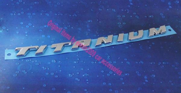 Auto car Chrome TITANIUM for Kuga Mondeo MkV Emblem Badge Sticker 2 pcs auto chrome 45th anniversary for 2012 camaro fender emblem badge sticker