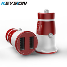 KEYSION-cargador USB Mini 3.1A para coche, Cargador rápido Dual para teléfono móvil, tableta, iPhone X, 8, 7, 6, Samsung y Xiaomi