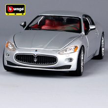 цены Bburago 1:24 maserati gt black silver car diecast luxury motorcar collecting precious car models for car fans 22107