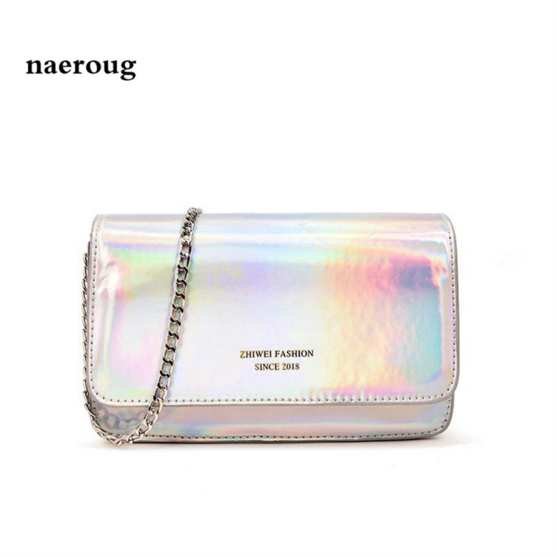Hologram Laser Silver Bag Designer Handbag Casual Chain Shouder Bag for Women gg bag l* handbags high quality vs pink louis bag ...