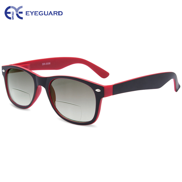 EYEGUARD UNISEX Bifocal Sun Readers Spring Temples Sun-readers UV 400 Protection Outdoor Reading and Distance Viewing