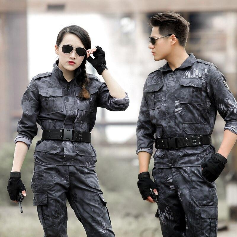 Nouvelle Conception Militaire Uniformes Tactique Armée Vêtements Femmes Hommes Camouflage Combat + Pantalon En Plein Air de Formation de Sport