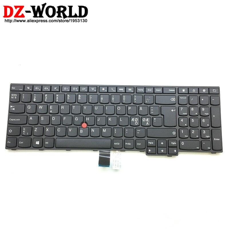 New Original for Lenovo Thinkpad E550 E550C E555 E560 E565 Danish Keyboard Danmark Teclado 01AV282 SN20L12669