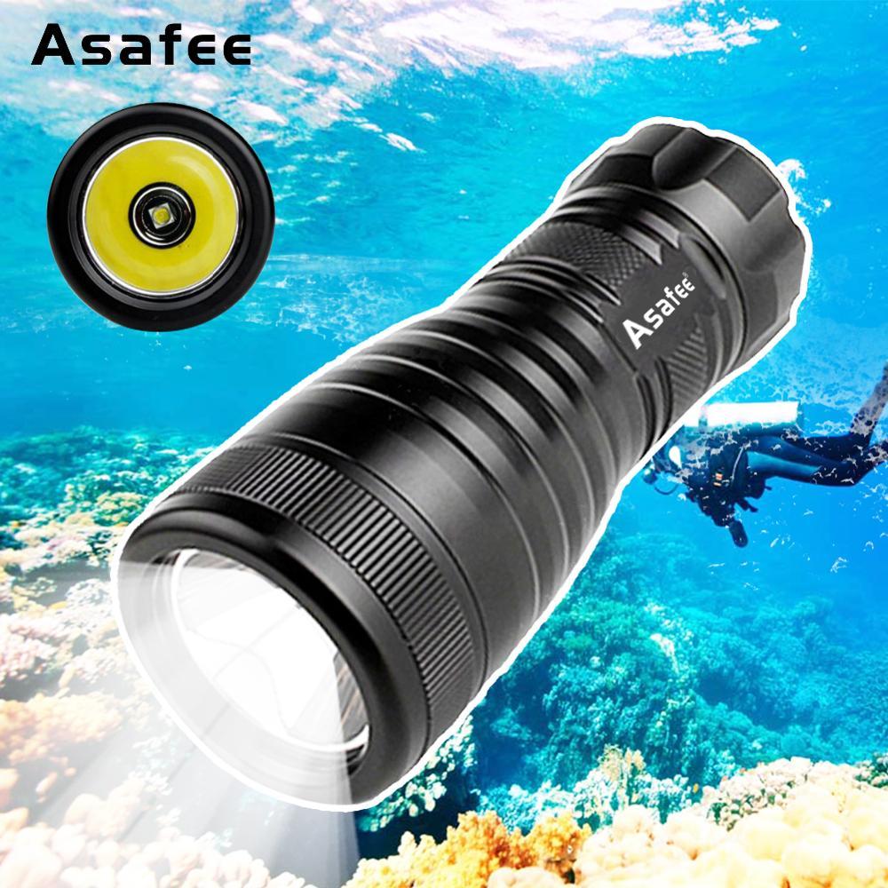 Mini Scuba Diving Flashlight Cree XM-L L2 Underwater Professional LED Scuba Diving Light Powerful Dive Flashlight Light