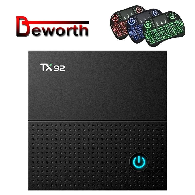 TX92 Amlogic S912 Android 7.1 TV Box Octa Core 3GB 32GB 2.4G/5GHz Wifi Bluetooth 4.1 1000M 4K IPTV Set Top Box Media Player цена