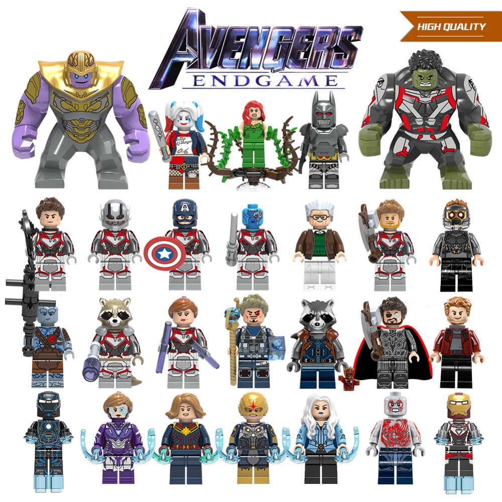 Single Sale Building Blocks Avengers 4 End Game Space Suit With Micro Iron Man Tony Stark Thor Hawkeye For Children Toys image