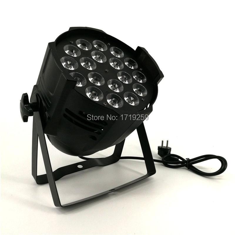 2 pcs lot LED Par Can 18x18W RGBWA UV DMX Stage Lights Business Light High Power