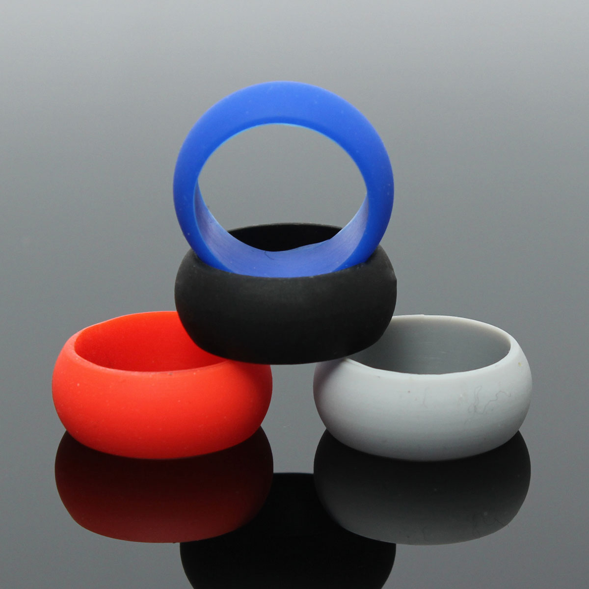 1pc Hot Sale Ring For Men Rubber Silicone Soft Touch Flexible Hypoallergenic  Wedding Romantic Engagement Love Ring Four Colors